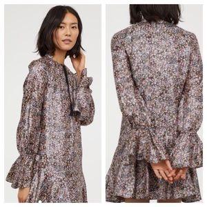 H&M Conscious Collection Metallic Dropwaist Dress